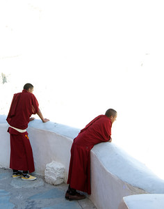 Monks at Thiksey Monastery