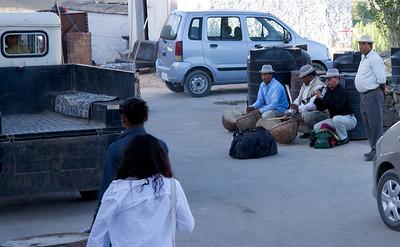 Musicians at Shanti Stupa