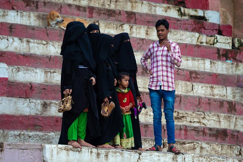 Family Gathering at a Ghat, Varanasi, India