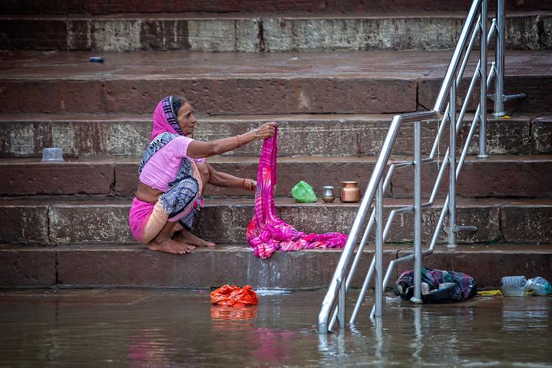 Washing Of The Clothes, Varanasi
