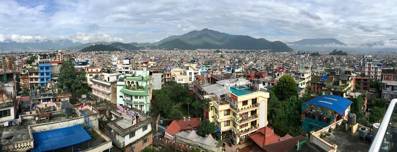Kathmandu City Skyline