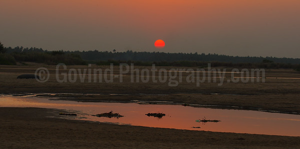 The Sun Sets on the Kaveri River