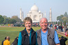 50th Anniversary picture in front of Taj Mahal, Agra, India