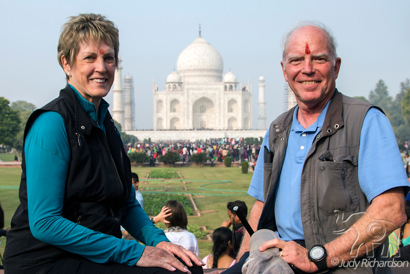 Our 50th Wedding Anniversary at the Taj Mahal after Hindu Blessing~PM
