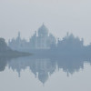 A misty morning at the Taj Mahal