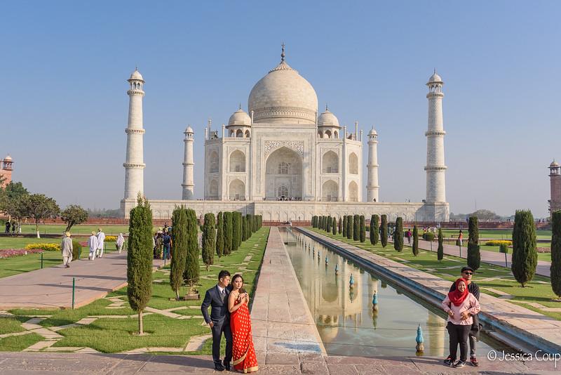 Engagement Photos at the Taj