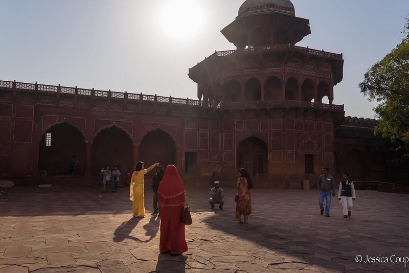 Posing at the Taj Mahal