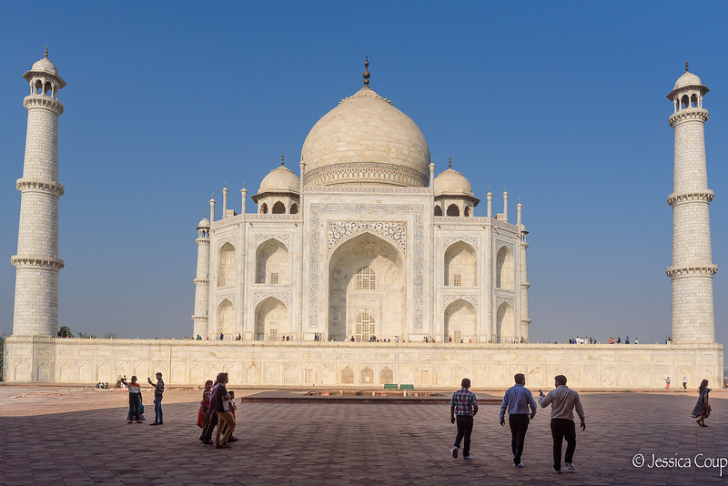 Viewing the Side of the Taj Mahal