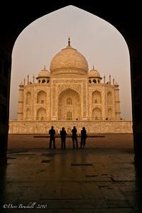 Different Views of Taj Mahal in Agra, India