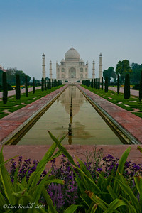Different Views of Taj Mahal in Agra, India