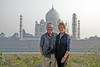 Alan and Judy from Mehtab Bagh looking at back of Taj Mahal