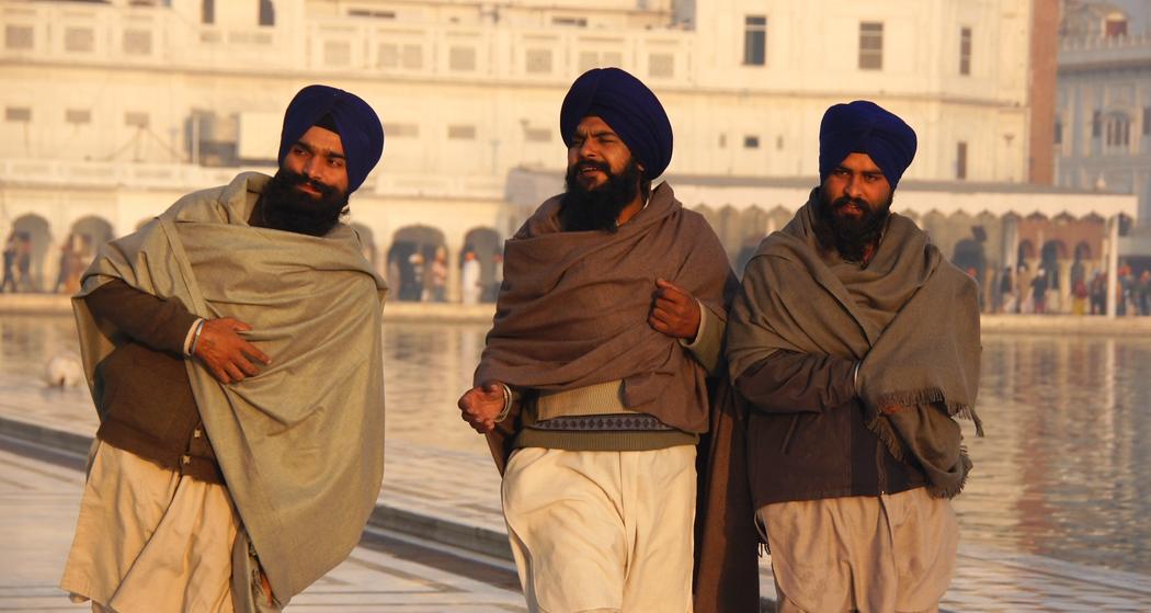 Three Wise Men at the Harmandir Sahib in Amritsar, India