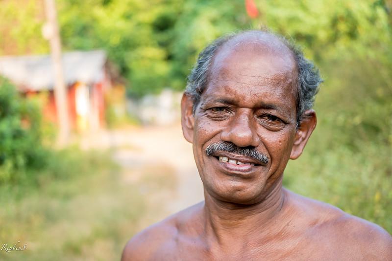 Village man near Toddy shop