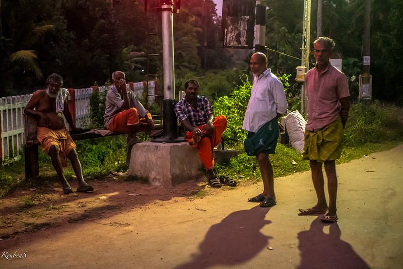 Villagers at the railway crossing, Kodamthuruth