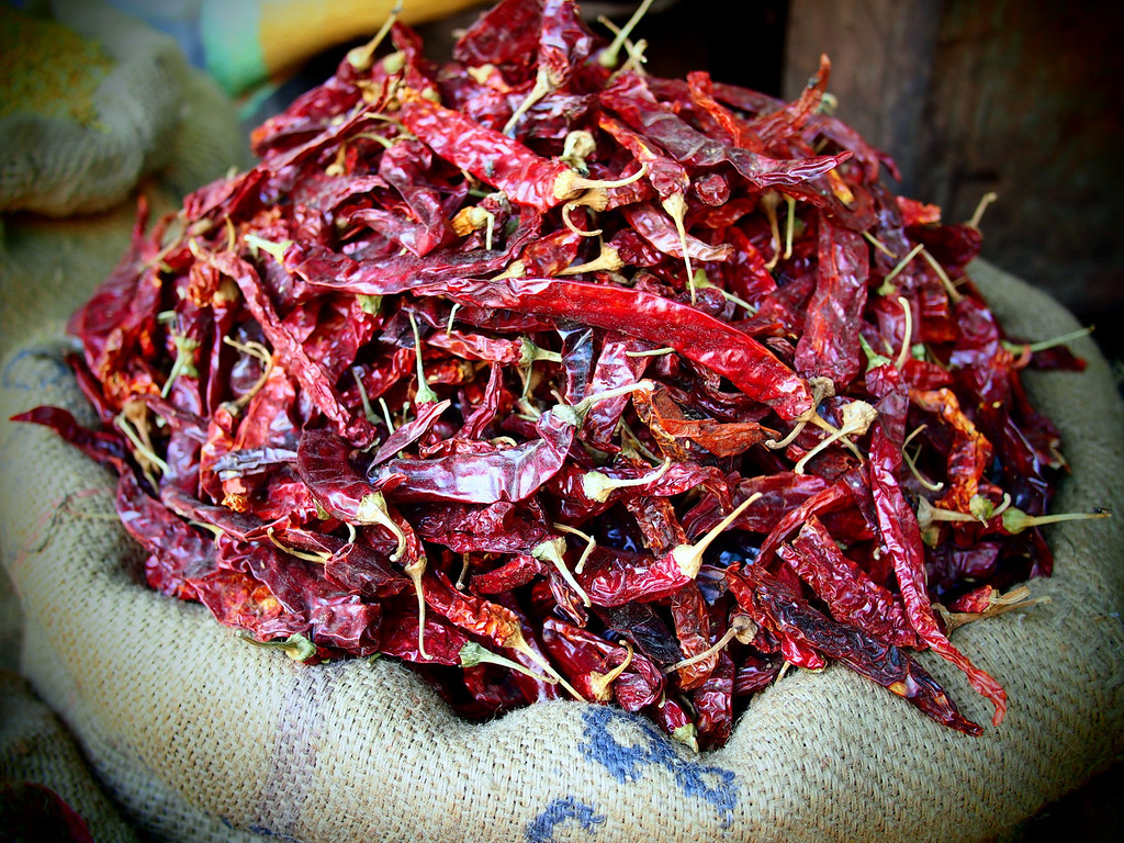 Chilies in Jaipur, India