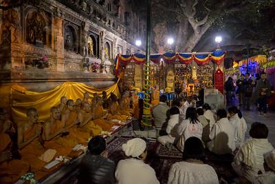 10th annual Tipitika Chanting Ceremony under the Bodhi Tree, Bodhgaya, Bihar, India.