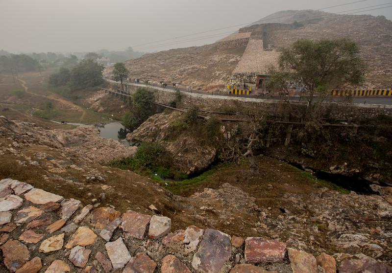 Sixth Centruy fort wall at Rajgriha, Nalanda, India