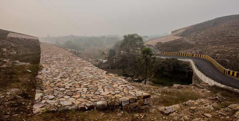 Sixth Centruy fort wall at Rajgriha, Nalanda, India