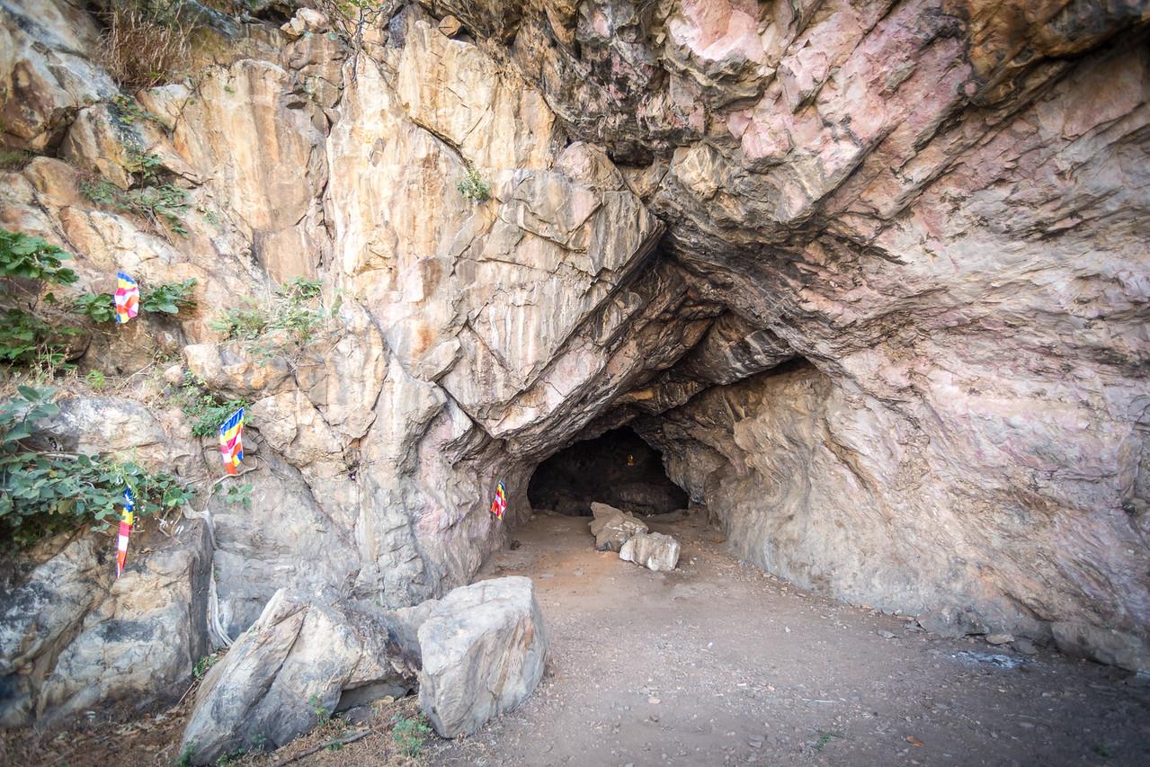 Asura cave, where The Buddha spent years living.