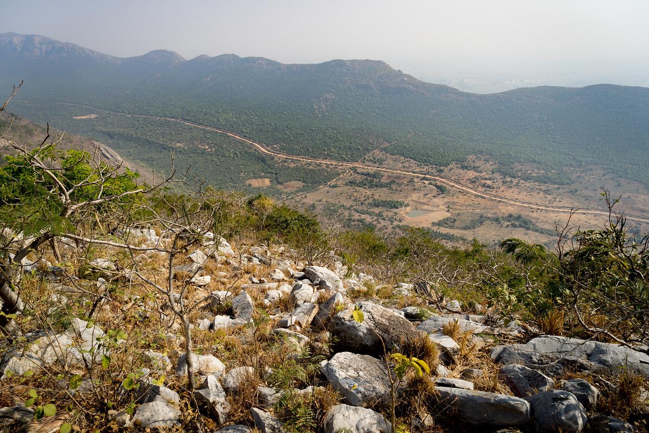Asura cave. Path made by Bimbisara to meet with Buddha.