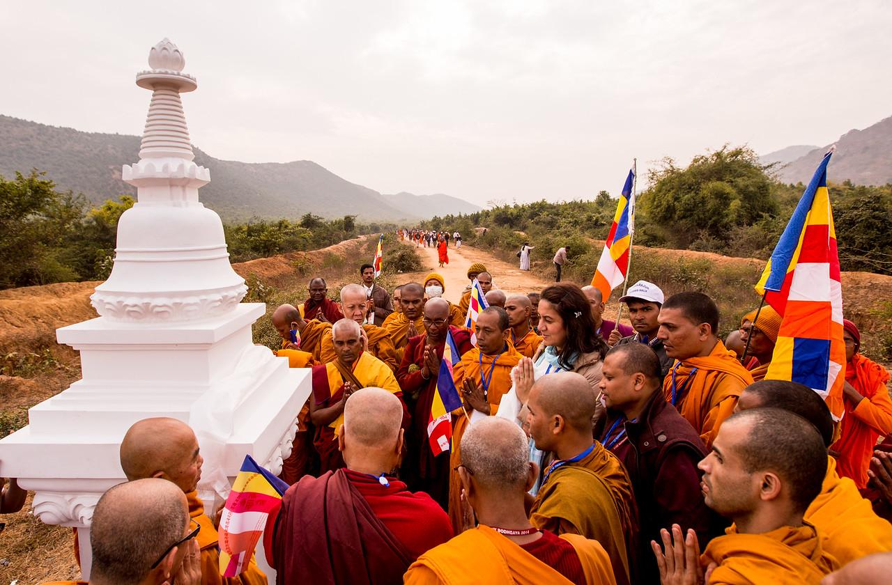 """Walking in the Footsteps of Buddha"", Dhamma Walk, Jethian To Rajgir, December 13th 2014, Bihar, India."