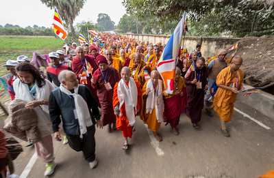 """Walking in the Footsteps of Buddha"", Dhamma Walk, Jethian To Rajgir, December 13th 2014, Bihar, India."