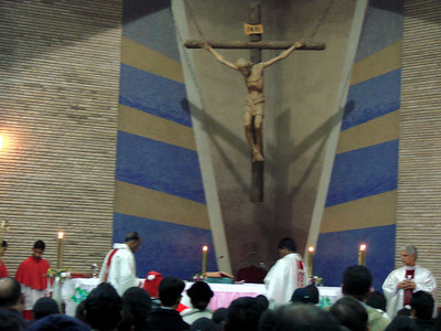 Christmas 2010 Midnight Mass in Catholic Church, Chandigarh