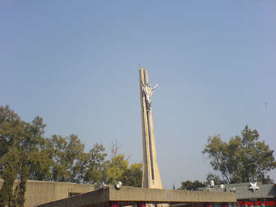 Jesus Christ, outside the Church in Christmas, Catholic Church in Chandigarh
