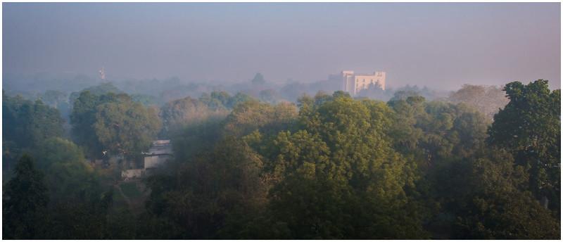 Smoggy Sunrise In Delhi