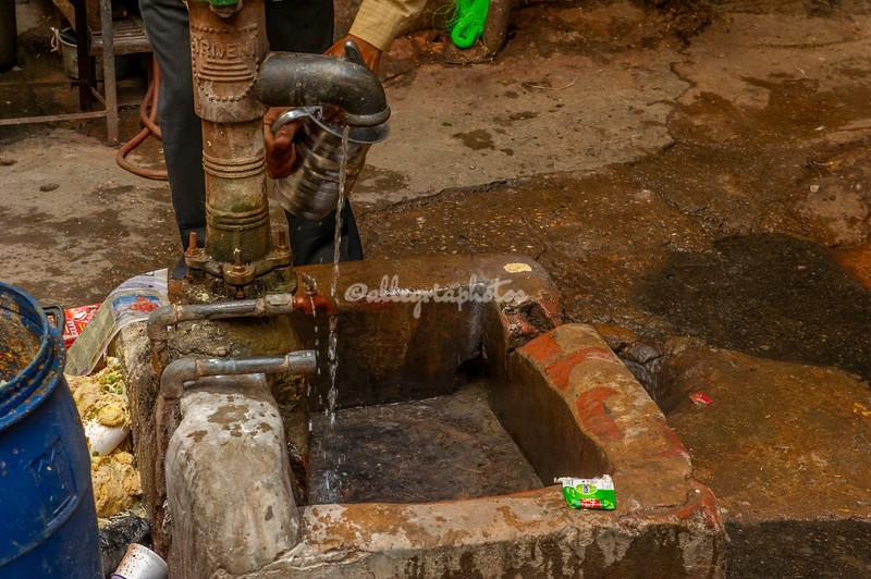 Fresh water pump in Old Delhi