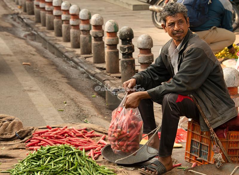 Carrot vendor, Delhi