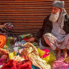 Street trader in Old Delhi