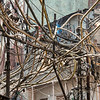 Typical electrical wiring in the streets of Old Delhi