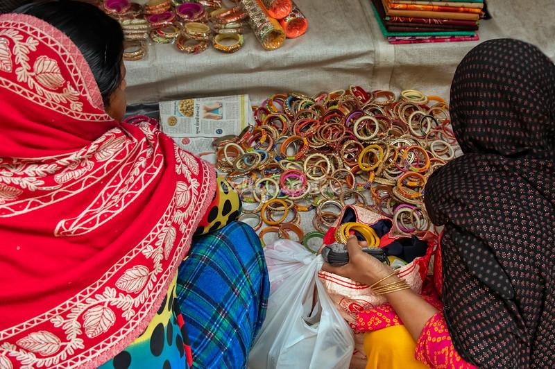 Buying bangles in Old Delhi