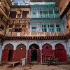 A courtyard in Old Delhi