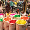 Colored powder for Holi festival, Delhi