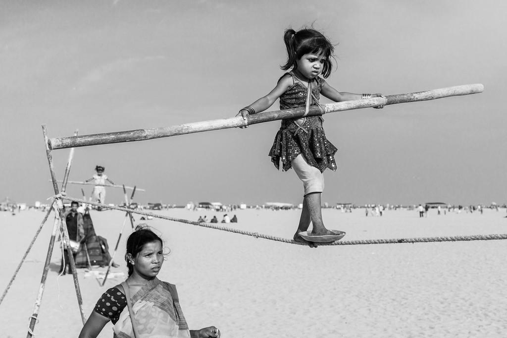 Entertainers, Marina Beach, Chennai, Tamil Nadu