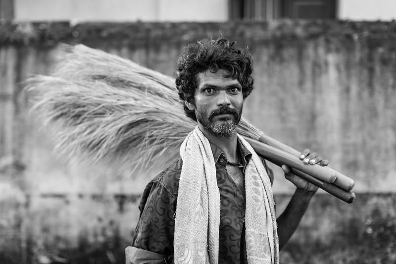 Broom-seller, Fort Cochin, Kerala