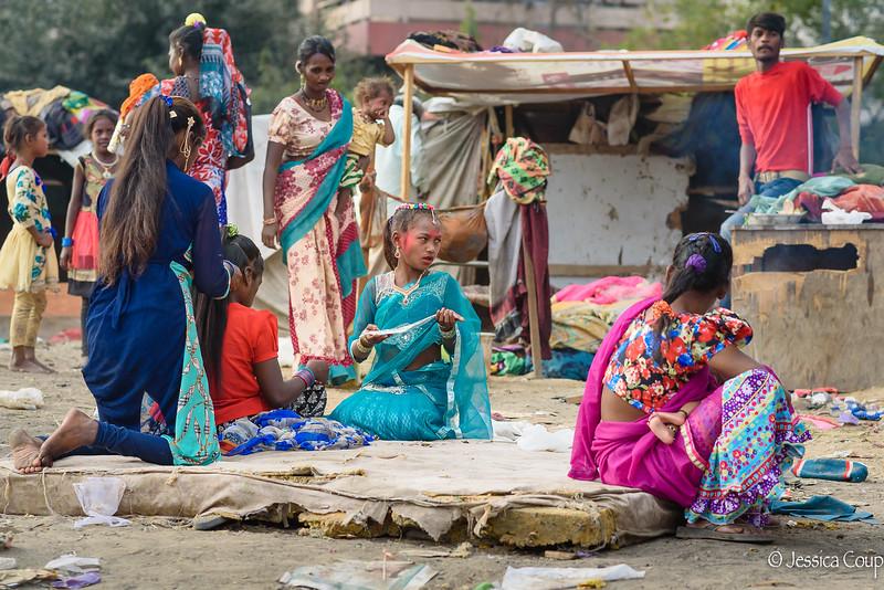 A Community Getting Ready for Holi Festival