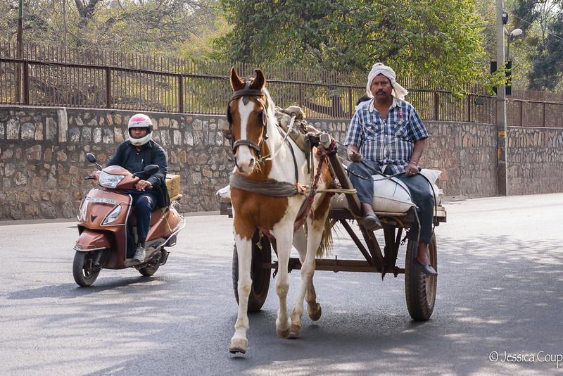 Typical Delhi Traffic Vehicles