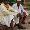Locals resting in the Red Fort