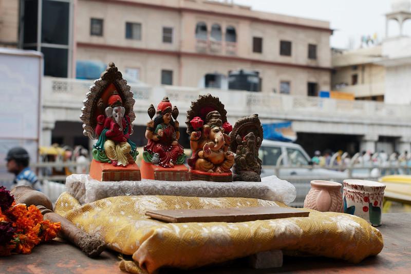 Small shrine in a Delhi street