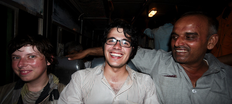 James makes a new friend on the (unbearable) busride to Delhi