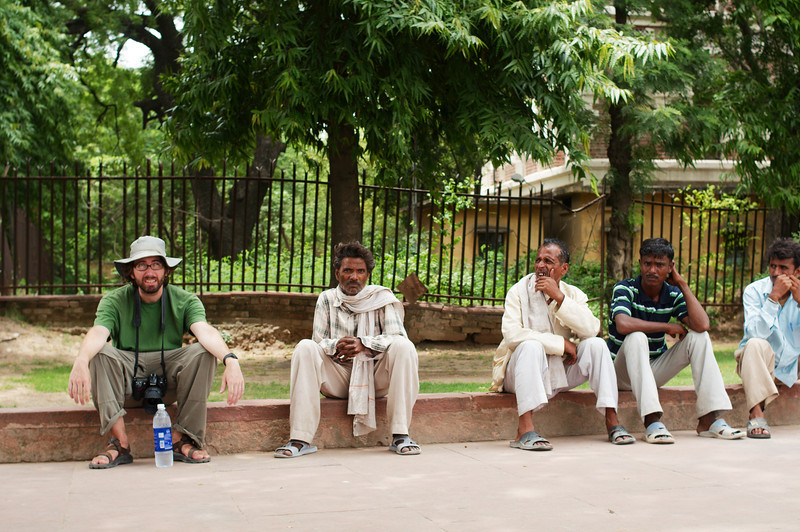 Yann takes a rest in the Red Fort