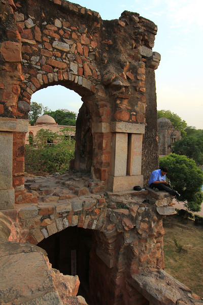 India: Hauz-Khas-Ruins-and-Village