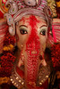 Elephant-headed God Ganesha. When Ganesha's head was accidentally chopped off by his mother and replaced by that of an elephant, his father, Lord Shiva the destroyer, gave him the boon that he would be worshiped before every God.