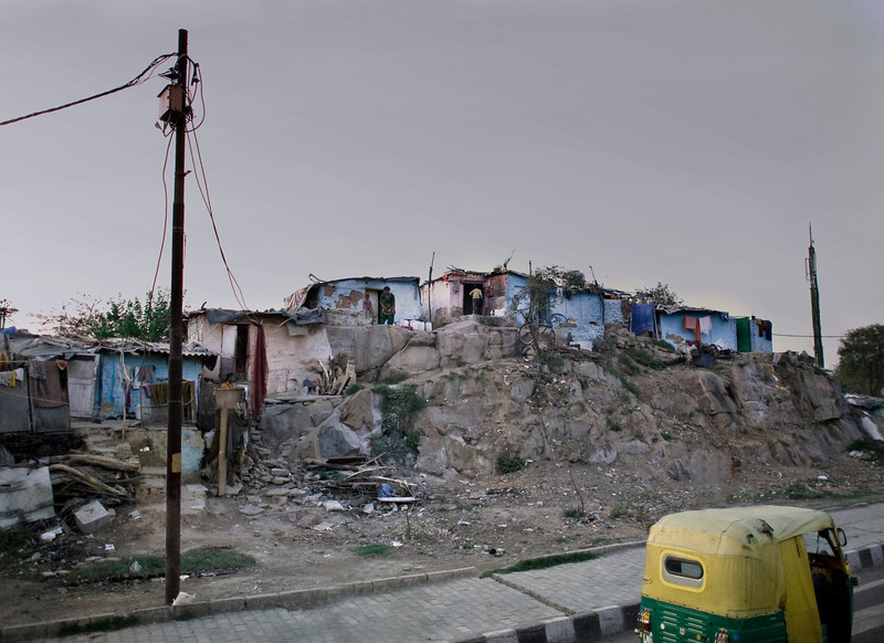 Slum, New Delhi, India