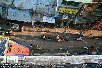 """Straight Down On Pahar Gang From The Top of the Vivek"", Delhi, India, 2007 Print IND3102-142"