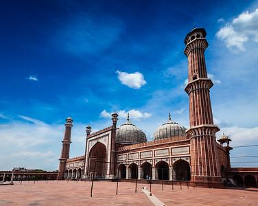 Jama Masjid - largest muslim mosque in India. Delhi, India