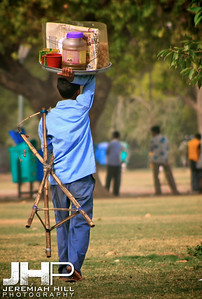 """Park Vendor On The Move"", India Gate Park, Delhi, India, 2007 Print IND3612-145"